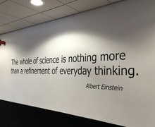 Wall quote science