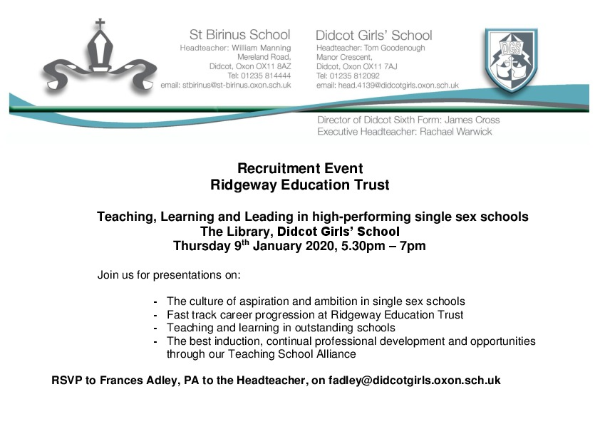 Invitation to ret recruitment evening 2020