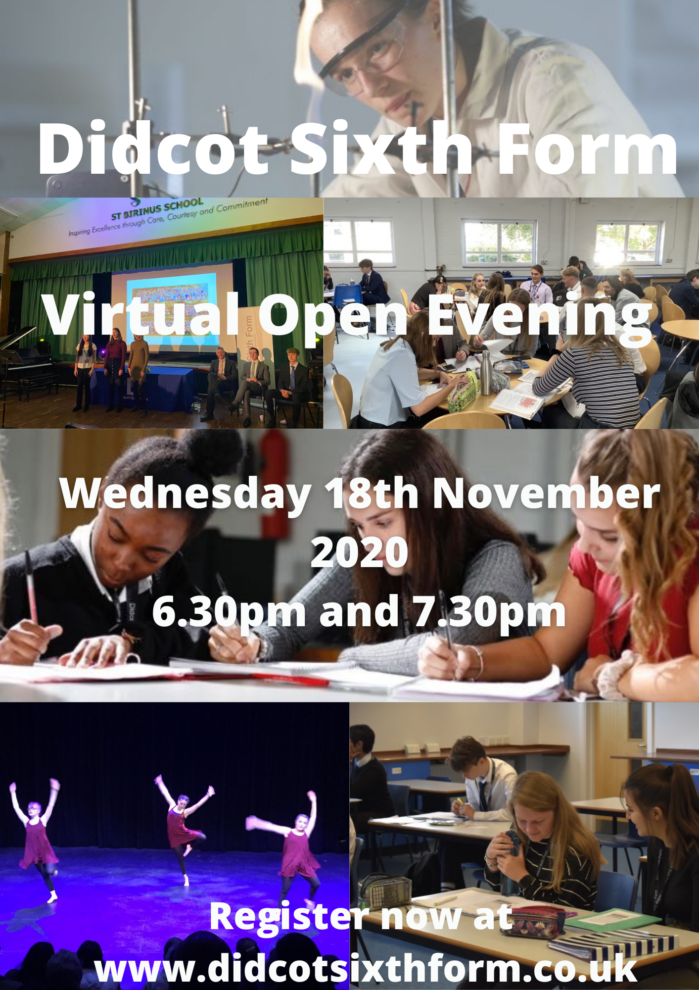 Didcot sixth form virtual open evening wednesday