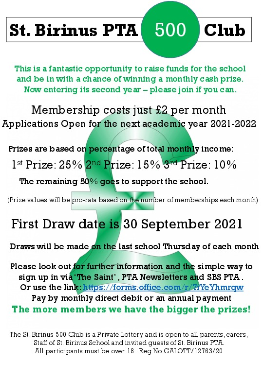 500 club poster 2021 22